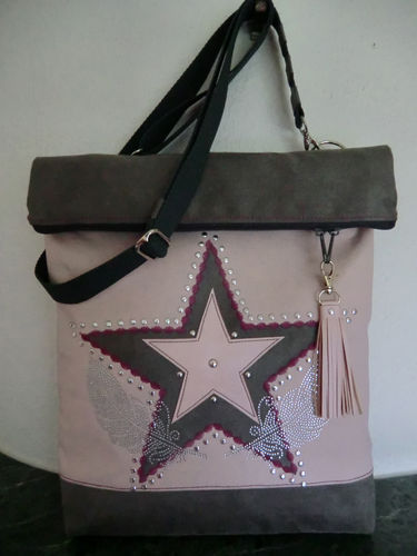 "Umschlagtasche ""Stars&Feathers"""